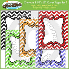 "Chevron 8 1/2"" x 11"" Cover Pages"