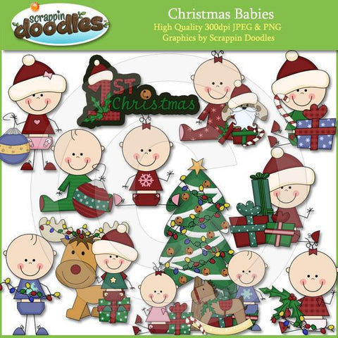 Christmas Babies Clip Art Download