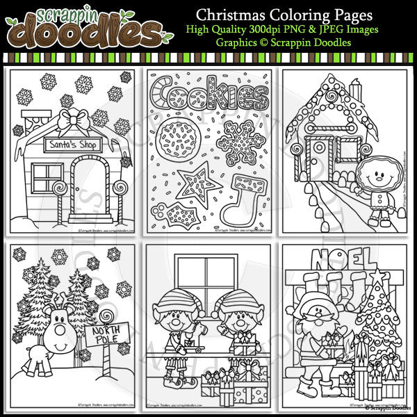 Free Christmas Coloring Pages FREEbie