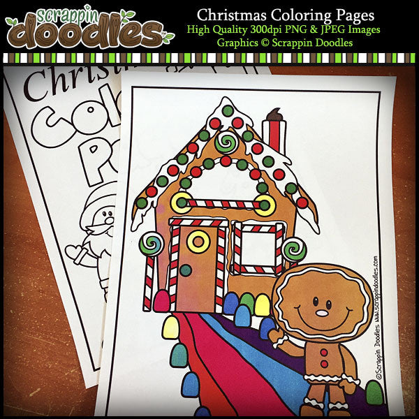 Christmas Coloring Pages FREEbie