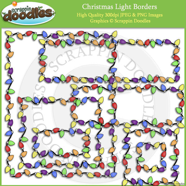 Christmas Light Borders Clip Art