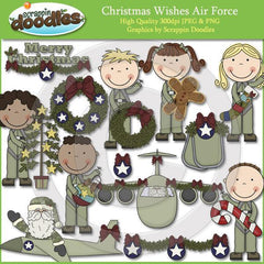 Christmas Wishes Air Force Clip Art Download
