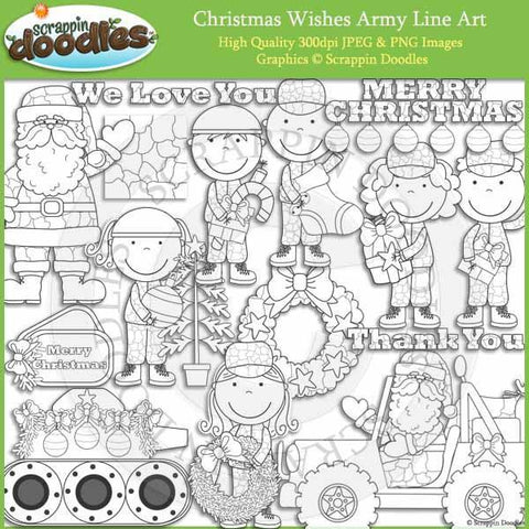 Christmas Wishes Army Clip Art Military graphics holiday