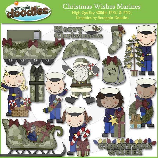 Christmas Wishes Marines Clip Art Download