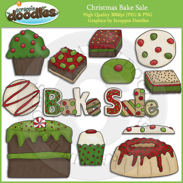 Christmas Bake Sale Clip Art Download