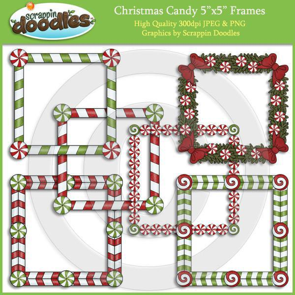 "Christmas Candy 5""x5"" Frames Download"