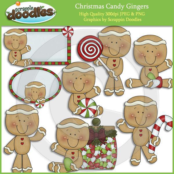 Christmas Candy Gingers Clip Art Download