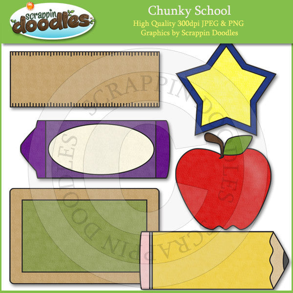 Chunky School for Bulletin Boards & Journaling