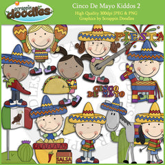 Cinco De Mayo Kidds 2 Clip Art Download