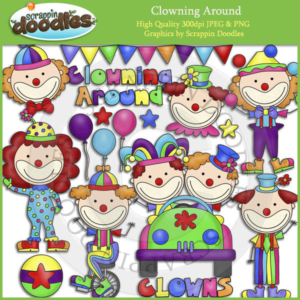 Clowning Around Clip Art Download