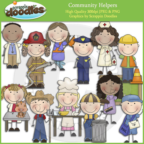 Community Helpers Clip Art Download