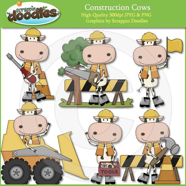 Construction Cows Clip Art Download