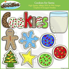 Cookies for Santa Clip Art & Line Art