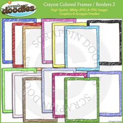 Crayon Colored Frames / Borders Bundle