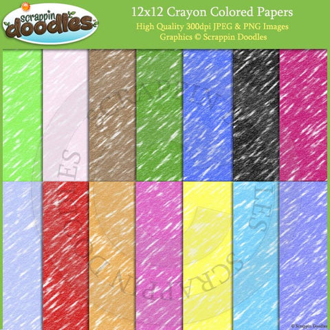 Crayon Colored 12x12 Backgrounds Download