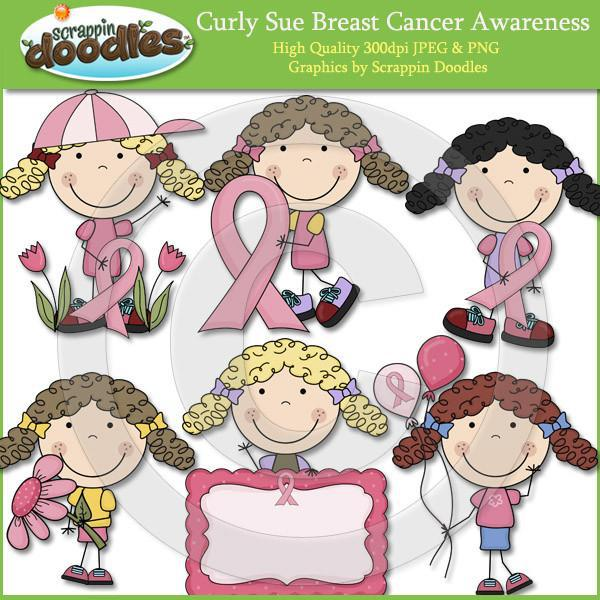Curly Sue Breast Cancer Awareness Clip Art Download
