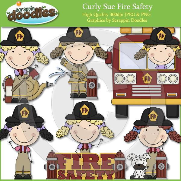 Curly Sue Fire Safety Clip Art Download