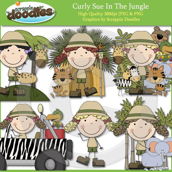 Curly Sue In The Jungle Clip Art Download