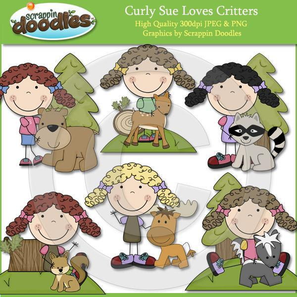 Curly Sue Loves Critters Clip Art Download