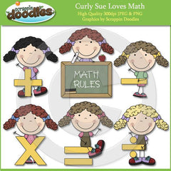 Curly Sue Loves Math Clip Art Download