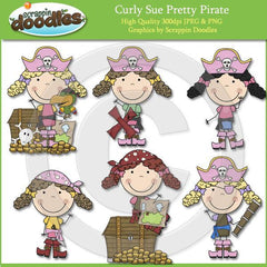 Curly Sue Pretty Pirate Clip Art Download