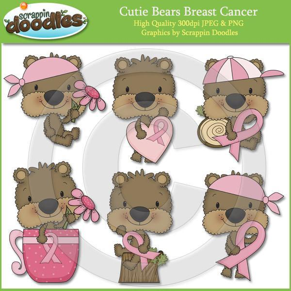 Cutie Bears Breast Cancer Clip Art Download