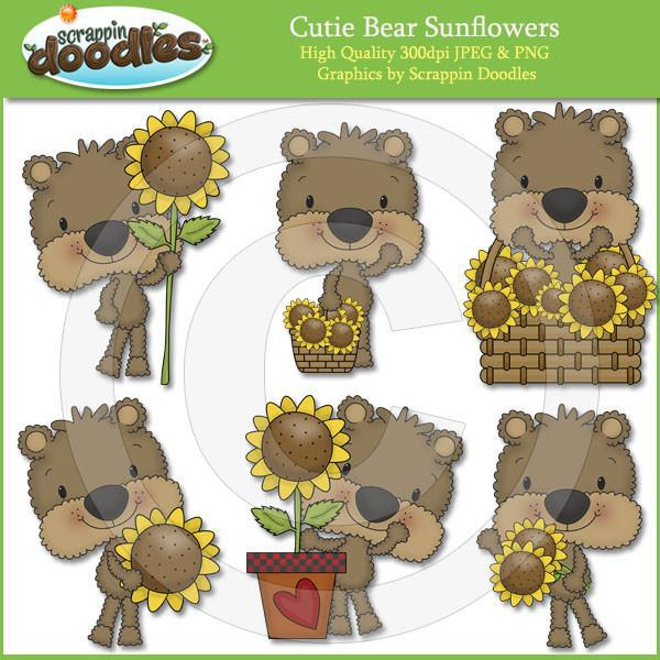 Cutie Bears Sunflowers Download
