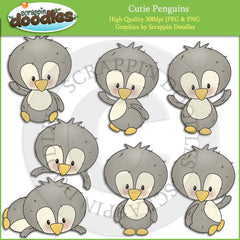 Cutie Penguins Clip Art Download