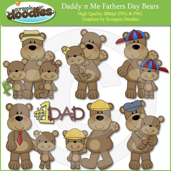 Daddy n Me Father's Day Bears Clip Art Download