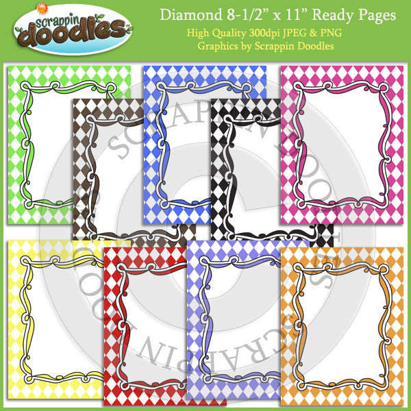 Diamond 8 1/2 x 11 Ready Pages / Cover Pages Download