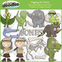Digging for Dinos Clip Art Download