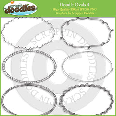 Doodle Ovals 4 Line Art Download