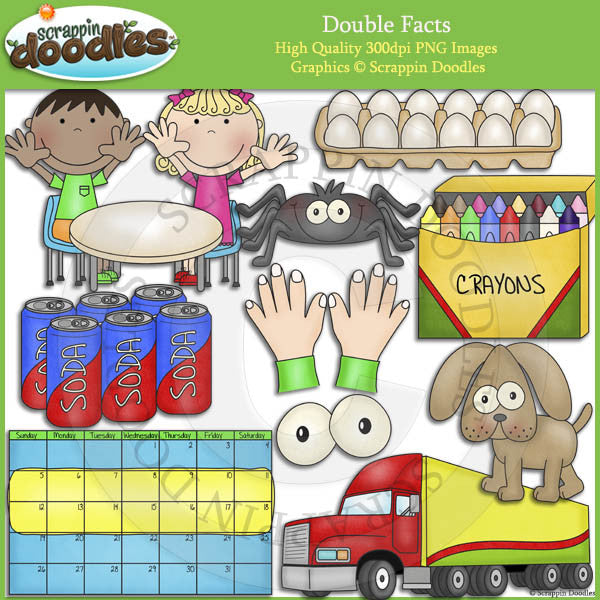 Doubles Fact Clip Art Download