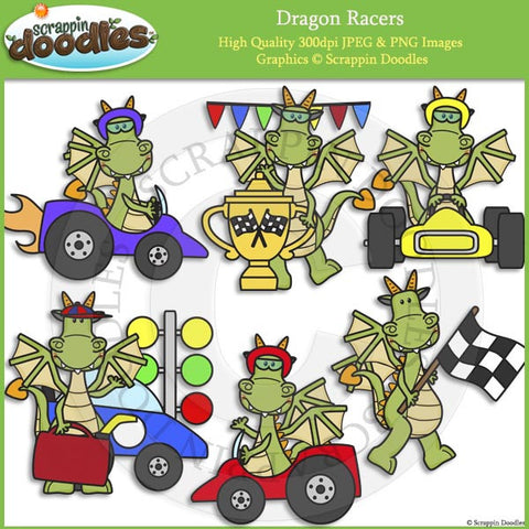 Dragon Racers Clip Art