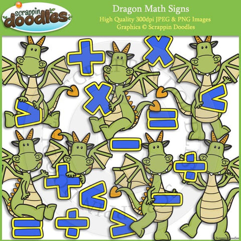 Dragon Math Signs Clip Art