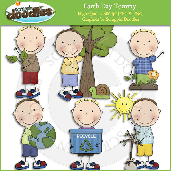 Earth Day Tommy Clip Art Download