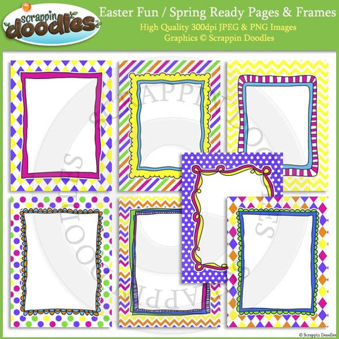Easter Fun/Spring 8 1/2 x 11 Ready Pages/Cover Pages & Frames