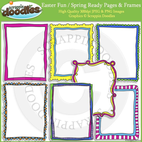 Easter Fun / Spring 8 1/2 x 11 Ready Pages – Scrappin Doodles