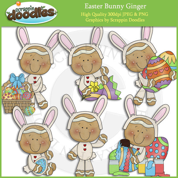 Easter Bunny Dress Up Ginger Clip Art Download