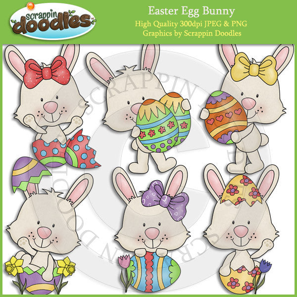 Easter Egg Bunny Clip Art Download