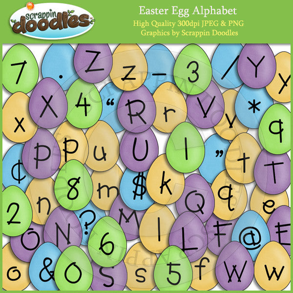 Easter Egg Alphabet Clip Art Download