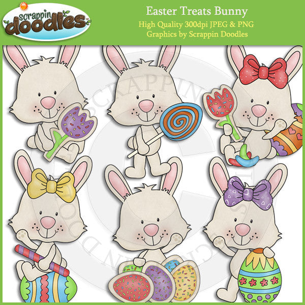 Easter Treats Bunny Clip Art Download
