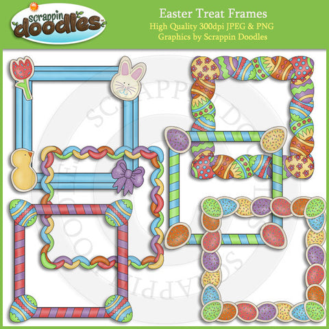 Easter Treat Frames Clip Art Download