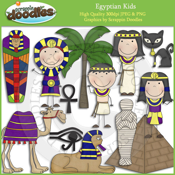 Egyptian Kids Clip Art Download