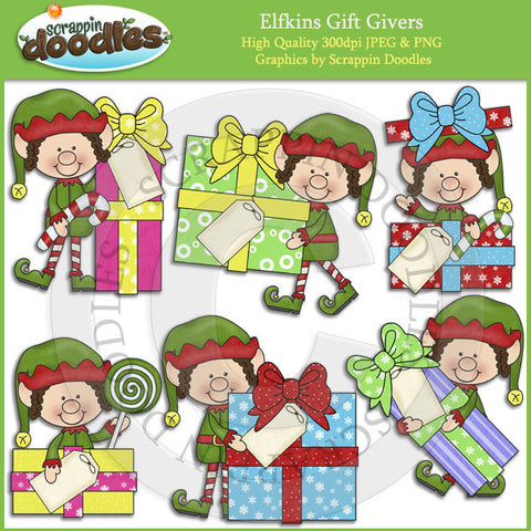 Elfkins Gift Givers Clip Art Download