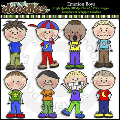 Emotion Boys Clip Art & Line Art