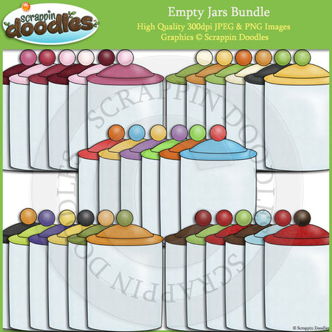 Empty Jar Bundle Clip Art Download