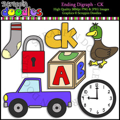 Beginning & Ending Digraph CK Clip Art Bundle