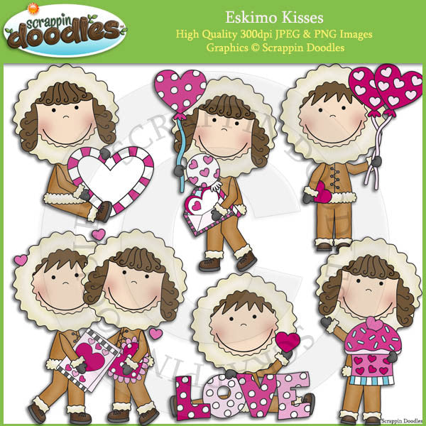 Eskimo Kisses Clip Art