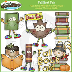 Fall Book Fair Clip Art